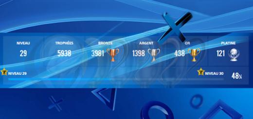 PSN calculer points trophées