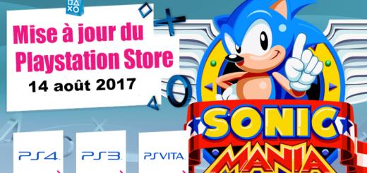 Playstation Store mise à jour du 14 août 2017