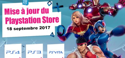 Playstation Store mise à jour du 18 septembre 2017