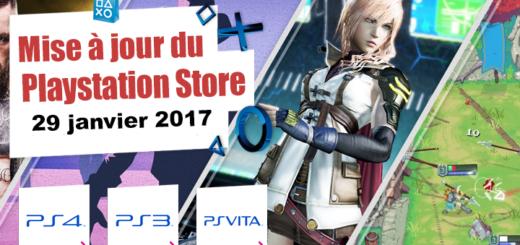 Playstation Store mise à jour du 29 janvier 2018