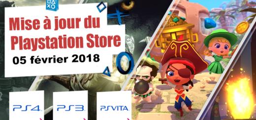 Playstation Store mise à jour du 05 février 2018