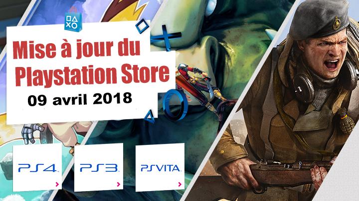 Playstation Store mise à jour 09 avril 2018