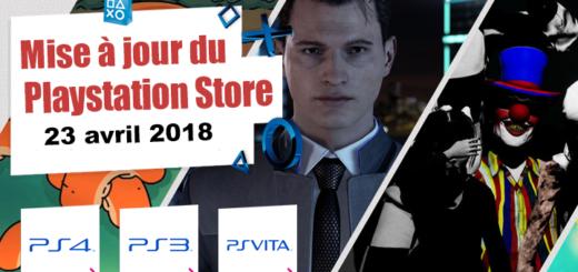 Playstation Store mise à jour du 23 avril 2018