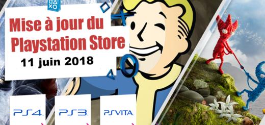 Playstation Store mise à jour du 11 juin 2018