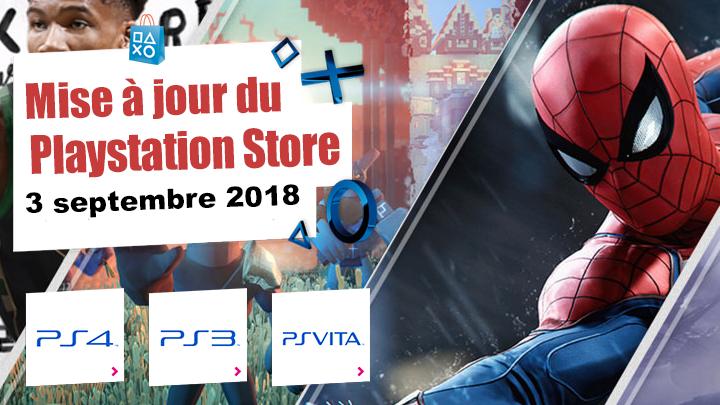 Playstation Store mise à jour du 3 septembre 2018