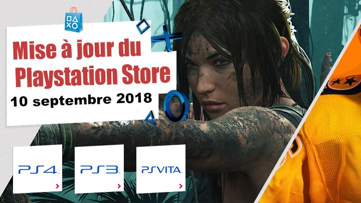 Playstation Store mise à jour du 10 septembre 2018