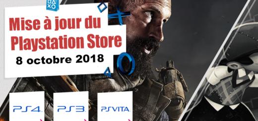 Playstation Store mise à jour du 8 octobre 2018