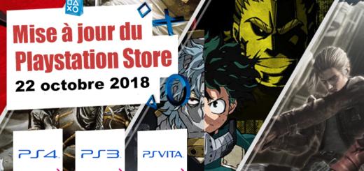 Playstation Store mise à jour du 22 octobre 2018