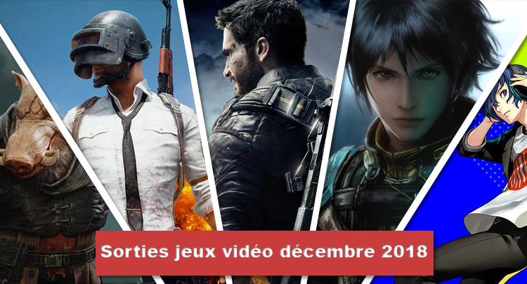 Sortie jeux vidéo décembre 2018