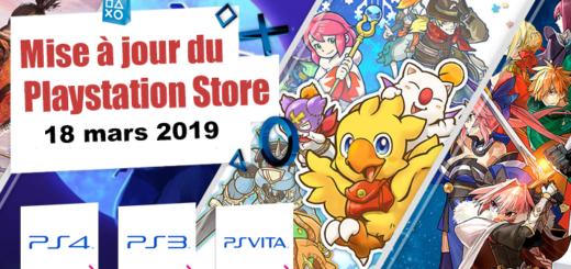 Playstation Store mise à jour du 18 mars 2019