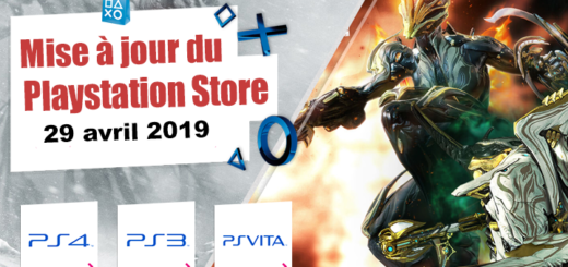 Playstation Store mise à jour du 29 zvril 2019