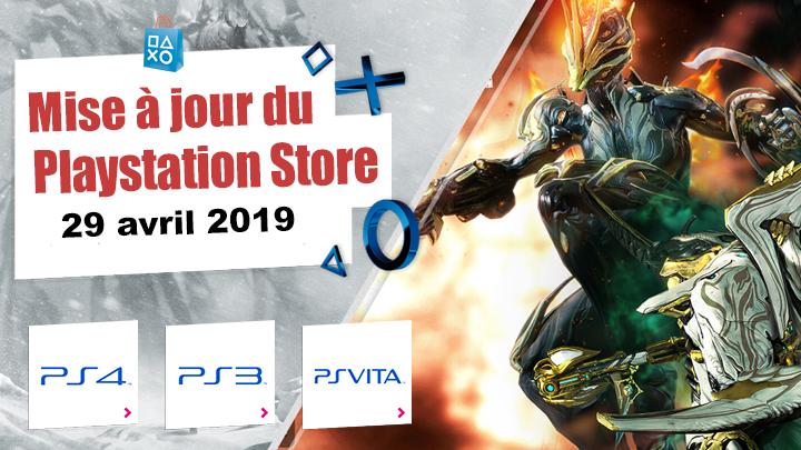 Playstation Store mise à jour du 29 zvril 2019