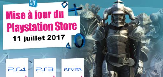 Mise à jour du Playstation Store du 11 juillet 2017