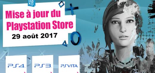 Playstation Store mise à jour du 29 août 2017