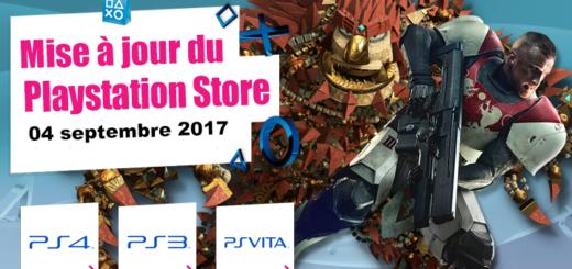 Playstation Store mise à jour du 04 septembre 2017