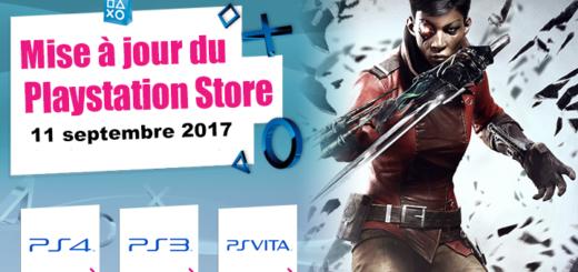 Mise à jour Playstation Store 11 septembre 2017