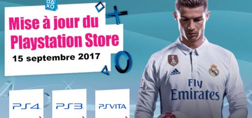 Playstation Store mise à jour du 25 août 2017