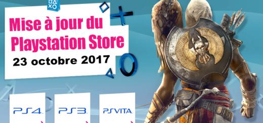 Playstation Store mise à jour du 23 octobre 2017