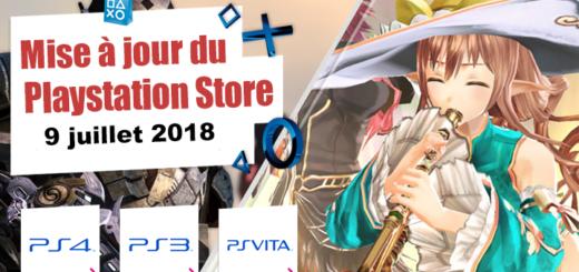 Playstation Store mise à jour du 9 juillet 2018