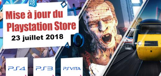 Playstation Store mise à jour du 23 juillet 2018