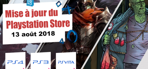 Playstation Store mise à jour du 13 août 2018