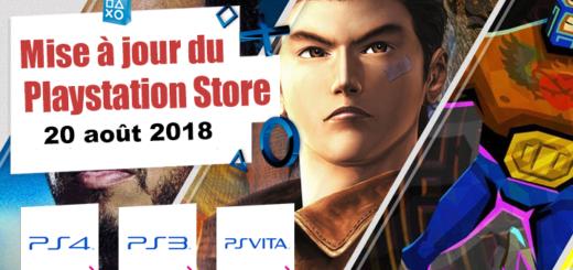 Midr à jout du Playstation Store 20 août 2018