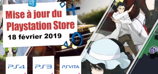 Playstation Store mise à jour du 18 février 2019