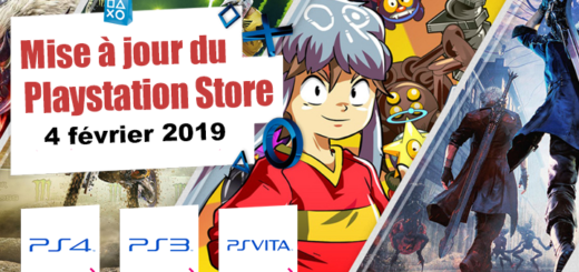 Playstation Store mise à jour du 4 février 2019
