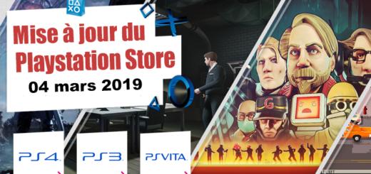 Playstation Store mise à jour du 4 mars 2019