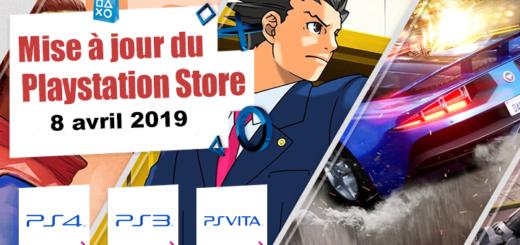 Playstation Store mise à jour du 8 avril 2019