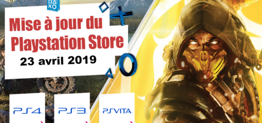 Playstation Store mise à jour du 23 avril 2019