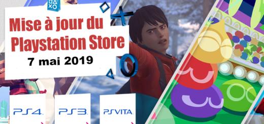 Playstation Store mise à jour du 7 mai 2019